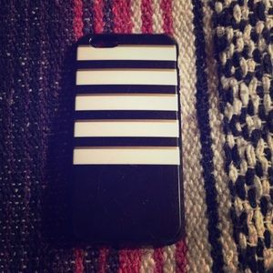 Other - Iphone 6 Gold , White , Black striped case!